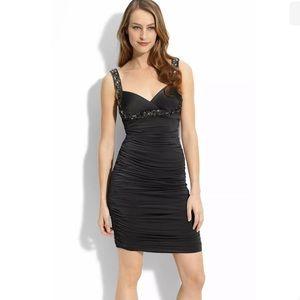 JS Boutique Jersey Sheath Dress Petite Sz 2P Black
